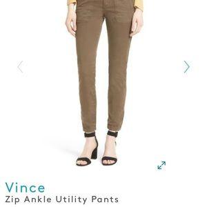 Vince sz 26 zip ankle utility pants